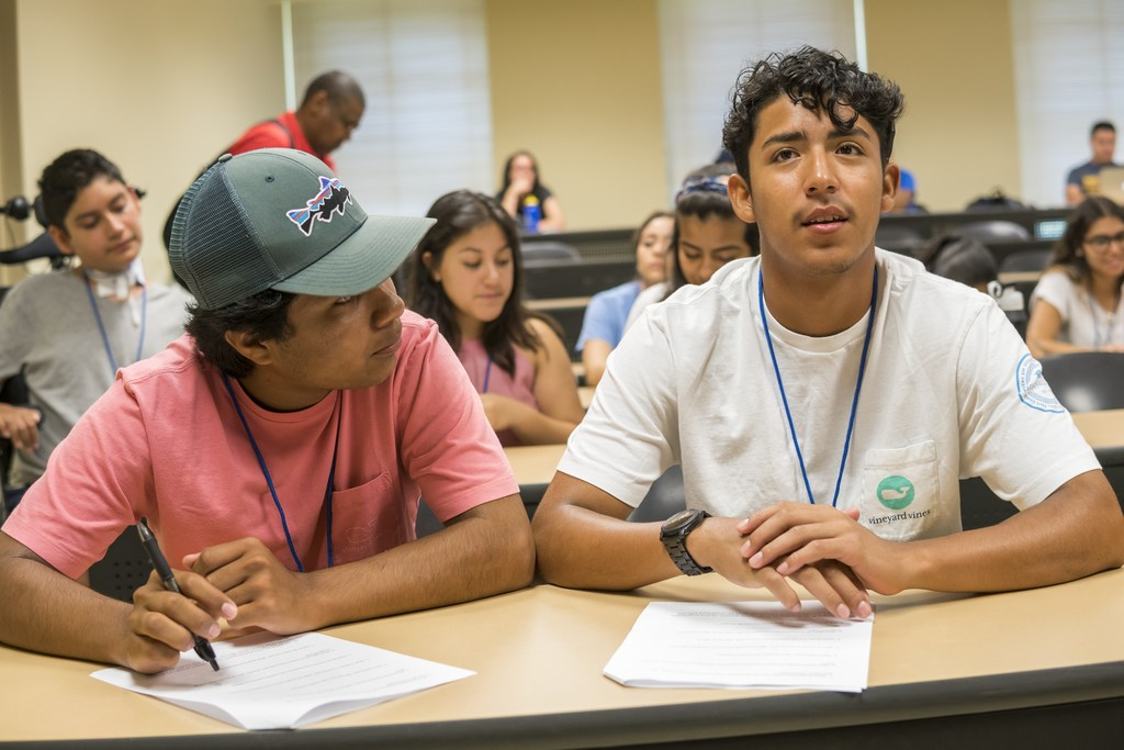 PIC11707 UNCG CHANCE Initiative: UNCG CHANCE is a unique experience that provides Latino/Hispanic high school students with the opportunity to engage in an intensive three-day college preparation and leadership skills development experience. Area high school students as well as students from surrounding counties within the state are encouraged to attend a creative mix of days in the life of a normal college students. These experiences include but are not limited to attending class, mock course registration, leadership development, team building activities, campus organizations, cultural experiences, sports activities and civic responsibility.